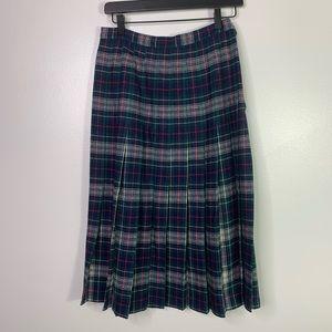 PENDLETON VTG Mackenzie Tartan Wool Pleated Skirt